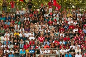 Fans at the Italian Formula 1 race at Monza