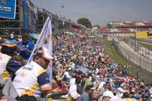 Formula 1 circuit in Catalunya, Spain